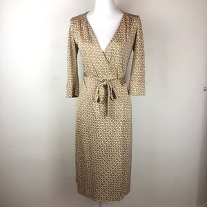 Diane Von Furstenberg Silk Wrap Dress Size 6